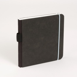 Notebook SCRIBBLE elastic light blue | 13 x 13 cm, 48 sheet blank
