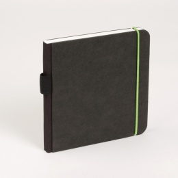 Notebook SCRIBBLE elastic green | 18 x 18 cm, 48 sheet blank