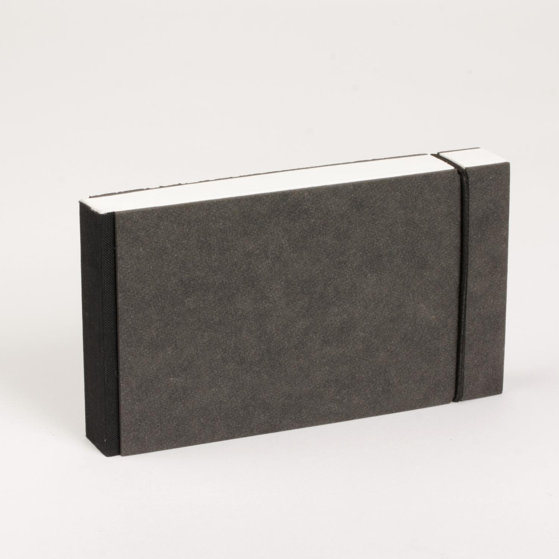 bindewerk notizblock journalist gummi schwarz. Black Bedroom Furniture Sets. Home Design Ideas